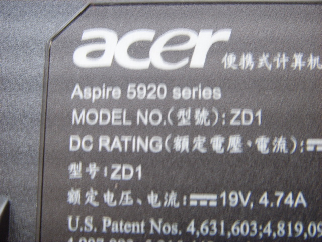 5920 aspire acer zd1 shortage repaired power issue