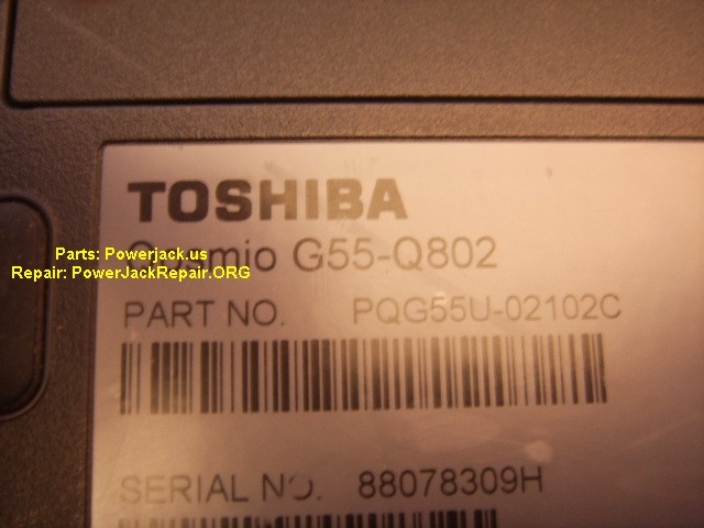 Toshiba G55-Q802 jack replacement